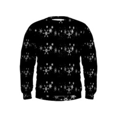 Black elegant  Xmas design Kids  Sweatshirt