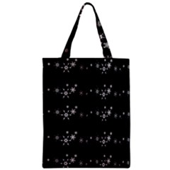 Black elegant  Xmas design Zipper Classic Tote Bag