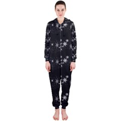 Black elegant  Xmas design Hooded Jumpsuit (Ladies)
