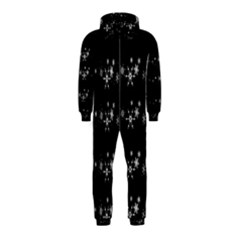 Black elegant  Xmas design Hooded Jumpsuit (Kids)