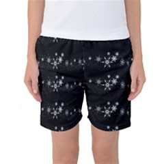 Black elegant  Xmas design Women s Basketball Shorts