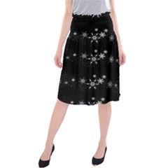 Black elegant  Xmas design Midi Beach Skirt