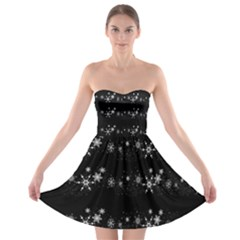 Black elegant  Xmas design Strapless Bra Top Dress