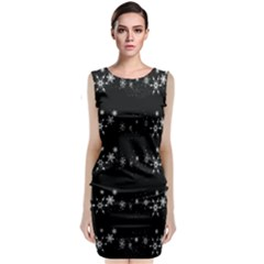 Black elegant  Xmas design Classic Sleeveless Midi Dress
