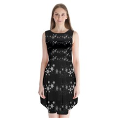 Black elegant  Xmas design Sleeveless Chiffon Dress