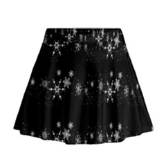 Black elegant  Xmas design Mini Flare Skirt