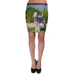 Bedlington Terrier Full Bodycon Skirt