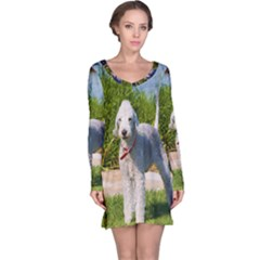 Bedlington Terrier Full Long Sleeve Nightdress