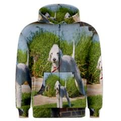 Bedlington Terrier Full Men s Zipper Hoodie