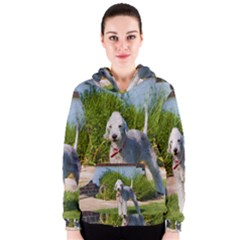 Bedlington Terrier Full Women s Zipper Hoodie