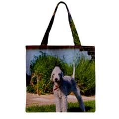 Bedlington Terrier Full Zipper Grocery Tote Bag