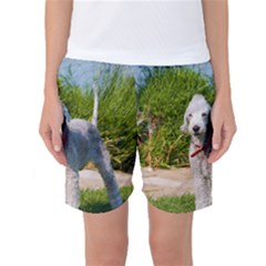 Bedlington Terrier Full Women s Basketball Shorts
