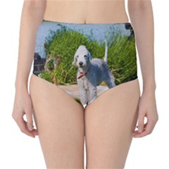 Bedlington Terrier Full High-Waist Bikini Bottoms