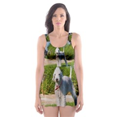 Bedlington Terrier Full Skater Dress Swimsuit