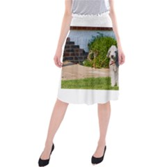 Bedlington Terrier Full Midi Beach Skirt