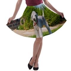 Bedlington Terrier Full A-line Skater Skirt