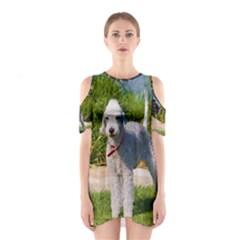 Bedlington Terrier Full Cutout Shoulder Dress