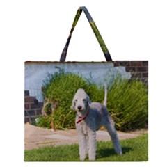 Bedlington Terrier Full Zipper Large Tote Bag