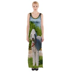 Bedlington Terrier Full Maxi Thigh Split Dress