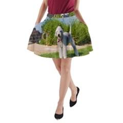 Bedlington Terrier Full A-Line Pocket Skirt
