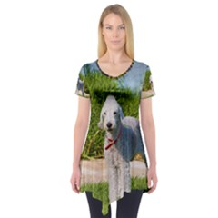 Bedlington Terrier Full Short Sleeve Tunic