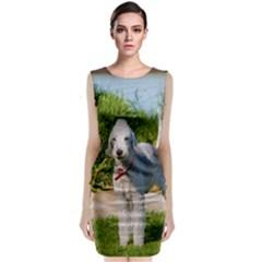 Bedlington Terrier Full Classic Sleeveless Midi Dress