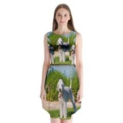 Bedlington Terrier Full Sleeveless Chiffon Dress