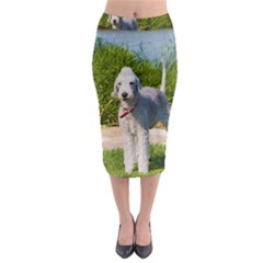 Bedlington Terrier Full Midi Pencil Skirt
