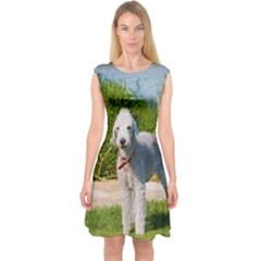 Bedlington Terrier Full Capsleeve Midi Dress