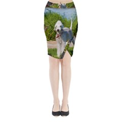 Bedlington Terrier Full Midi Wrap Pencil Skirt