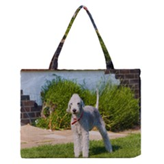 Bedlington Terrier Full Medium Zipper Tote Bag