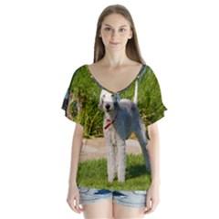 Bedlington Terrier Full Flutter Sleeve Top