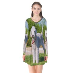 Bedlington Terrier Full Flare Dress