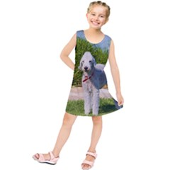Bedlington Terrier Full Kids  Tunic Dress