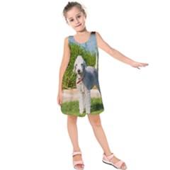 Bedlington Terrier Full Kids  Sleeveless Dress