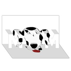 Dalmation cartoon head MOM 3D Greeting Card (8x4)