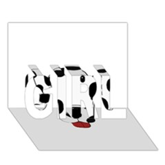 Dalmation cartoon head GIRL 3D Greeting Card (7x5)
