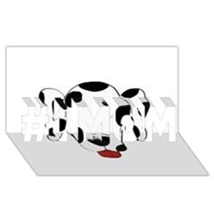 Dalmation cartoon head #1 MOM 3D Greeting Cards (8x4)