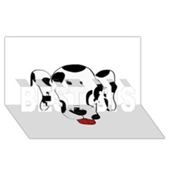 Dalmation cartoon head BEST SIS 3D Greeting Card (8x4)