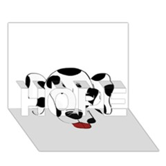 Dalmation cartoon head HOPE 3D Greeting Card (7x5)