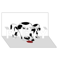 Dalmation cartoon head PARTY 3D Greeting Card (8x4)