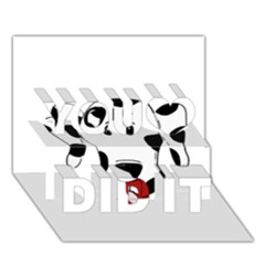 Dalmation cartoon head You Did It 3D Greeting Card (7x5)