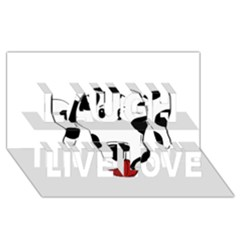 Dalmation cartoon head Laugh Live Love 3D Greeting Card (8x4)