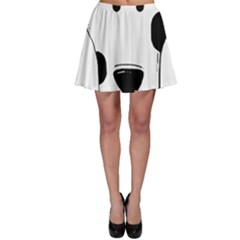 Dalmation cartoon head Skater Skirt