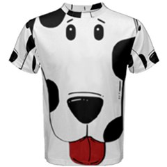 Dalmation cartoon head Men s Cotton Tee