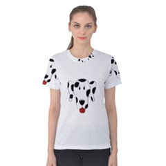 Dalmation cartoon head Women s Cotton Tee