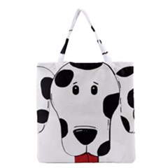 Dalmation cartoon head Grocery Tote Bag