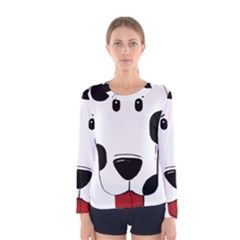 Dalmation cartoon head Women s Long Sleeve Tee