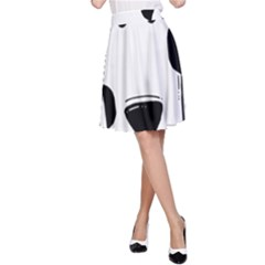 Dalmation cartoon head A-Line Skirt