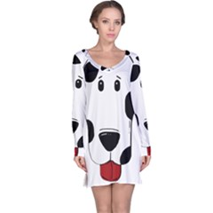 Dalmation cartoon head Long Sleeve Nightdress